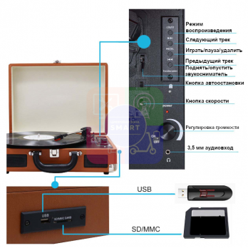Орбита OT-SPB01 грамофон