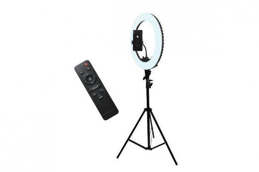 Кольцевая лампа визажиста для профессиональной съемки,